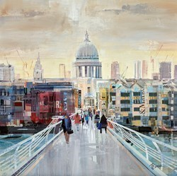 Bridge Strool by Tom Butler -  sized 24x24 inches. Available from Whitewall Galleries